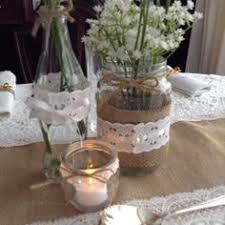 jar table decorations shabby chic rustic wedding vintage 10 decorated glass jars