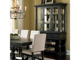 steve silver leona cottage antique black buffet u0026 hutch with