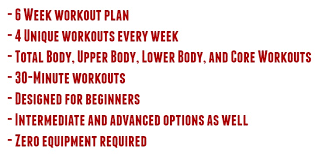 workout plans for beginners at home 6 week home workout plan for beginners back to basics