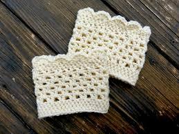 Crochet Home Decor Patterns Free Free Lacy Scalloped Crochet Boot Cuff Pattern Crochet