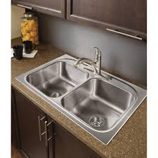 moen g222173 2200 series 22 gauge double bowl drop in sink