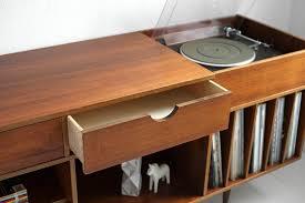 mid century record cabinet vintage swedish teak record cabinet mid century credenza by moved