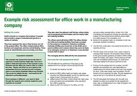 manufacturing risk assessment template assessment template for manufacturing risk format of