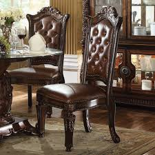 Dining Room Chairs Cherry Acme Vendome 54 Inch Class Dining Room Set Cherry Vendome