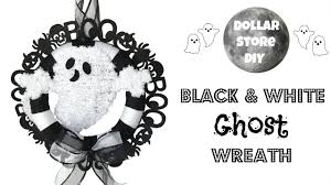 Jack Skellington Home Decor by Dollar Store Diy Black U0026 White Ghost Wreath Halloween Home
