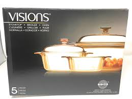 amazon com visions 4 pc cookware set glass cookware for stovetop