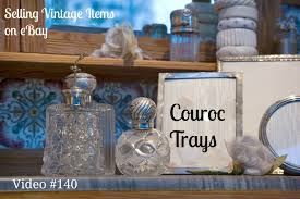 selling vintage home decor items on ebay couroc barware trays