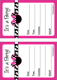 minnie party invitations minnie mouse invitations free