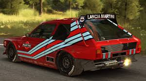 red martini lancia delta s4 red martini livery lancia ecv inspired update