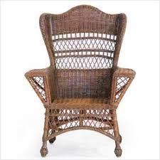 wingback indoor wicker chairs