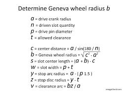 make geneva wheels of any size new gottland
