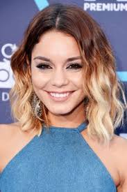 jennifer lawrence hair co or for two toned pixie vanessa hudgens straight medium brown ombré two tone hairstyle
