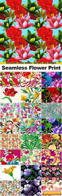 seamless flowers prints 25x jpegs free free graphic