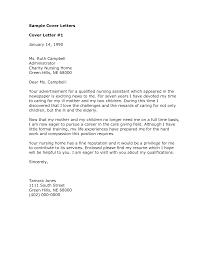 Sample Cover Letter For Nursing remarkable sample cover letter for nursing assistant position 98