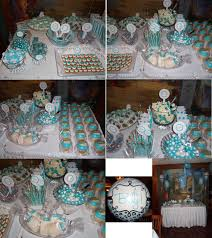tiffany blue u0026 white candy bar dessert table i made for my