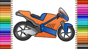 motorcycle coloring page for kids drawing motorcycle art colors