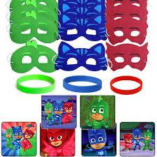 24 pj masks party favor stickers 12 hero masks u0026 wristbands
