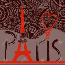 Eiffel Tower Decoration Love In Paris Background Decorative Paris Word With Eiffel Tower