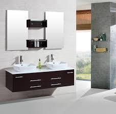 Contemporary Bathroom Vanity 60 Inch Double Sink Vanity With Marble Top Home Vanity Decoration