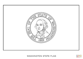 Washington State Map Outline by Washington State Flag Coloring Page Free Printable Coloring Pages