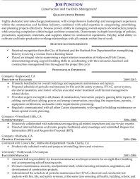 Facility Manager Job Description Resume by Facility Manager Resume Resume Example