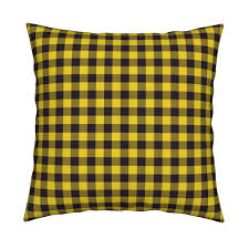 yellow buffalo plaid fabric angiehiller spoonflower