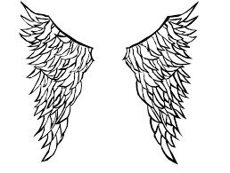 angel wings outline clip art 54