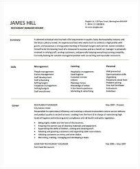 resume templates janitorial supervisor memeachu restaurant manager resume sle 1 hotel and restaurant management