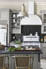 marble floor stainless steel range hood stove oven nickel faucet