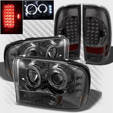 2004 Silverado Tail Lights Ford F250 Super Duty 1999 2004 Smoked Halo Projector Headlights