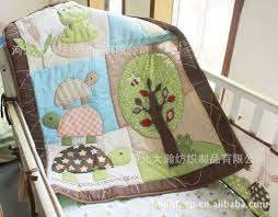 Frog Crib Bedding 3d Big Turtle Tree Frog Crib Bedding Set 7 Pieces Embroidery Quilt