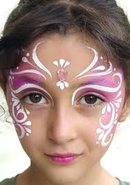 gorgeous fairy face painting i did this for beanie to go to a