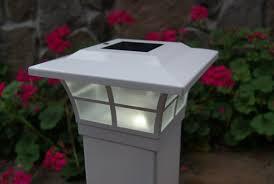 Solar Powered Post Cap Lights by Classy Caps Solar 2 Light Fence Post Cap U0026 Reviews Wayfair