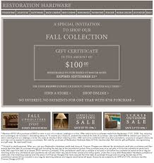 restoration hardware gift restoration hardware coupons coupon for shopping