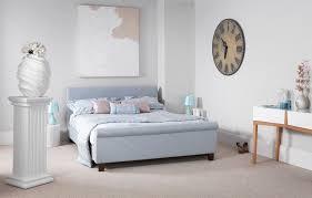Blue Bed Frame Fabric Blue Upholstered Small 4ft Bed Frame