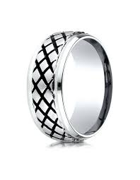 wedding rings malta malta cobalt cross hatch wedding band for men by benchmark