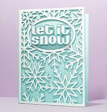 snowflake card cover free cut file