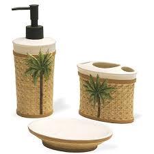 Bathroom Accessories Walmart Com by Better Homes And Gardens Palm 3 Piece Bath Accessories Set