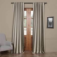 Striped Blackout Curtains Grey Striped Blackout Curtain