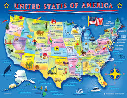 United States Map Puzzles by Usa Map 60 Piece Jigsaw Puzzle