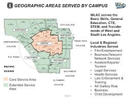 West Los Angeles Map by West Los Angeles College Master Plan West Edge Architects