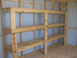 Diy Garage Storage Cabinets Backyards Garage Shelves Back Diy Building Overhead Shelves02