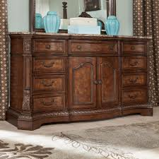 Ashley Bedroom Set With Leather Headboard Ledelle Dresser In Brown B705 31 Ledelle Collection Ashley