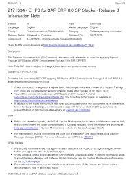 2171334 ehp8 for sap erp 6 0 sp stacks release u0026 information