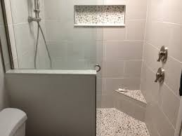 Niche Bathroom Shower Bali Cloud Pebble Tile Shower Floor Seat Niche Pebble Tile Shop