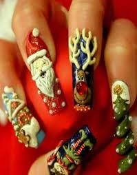 11 best acrylic christmas nails design images on pinterest