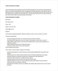 Resume Template For Secretary 10 Secretary Resume Templates Free Sample Example Format