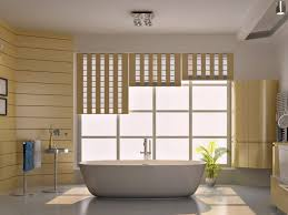 Wallpapers For Bathrooms Modern Bathroom Design With Digital Prints In Eco Style