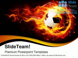football with flames sports powerpoint templates themes and
