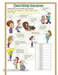 describing character part 3 worksheet free esl printable